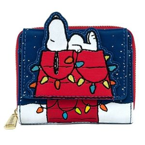 Loungefly snoopy Christmas wallet